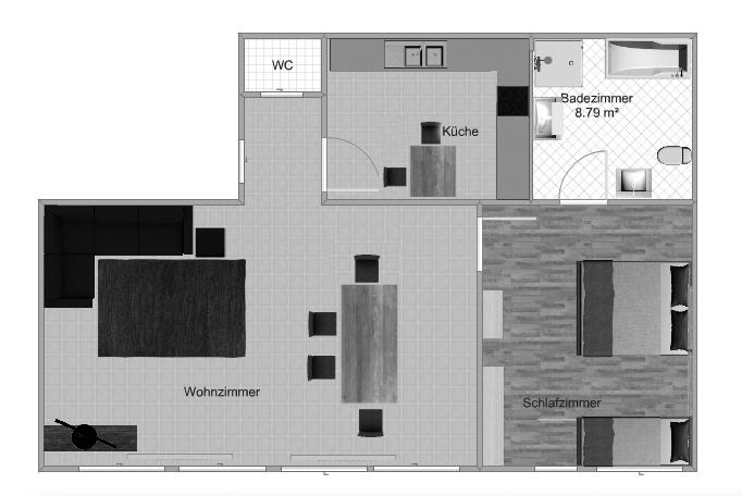 Grose wohnzimmer bilder  Citadelle.de - Ferienwohnung, 80 qm, großes Wohnzimmer, 1 Schlafraum ...